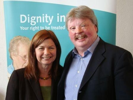 Simon Weston and Debbie Smith